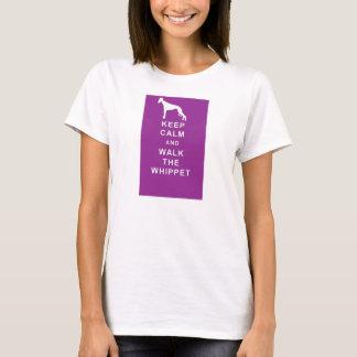 WHIPPET Keep Calm Walk T shirt birthday Christmas
