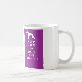 WHIPPET Keep Calm Walk the Whippet mug birthday