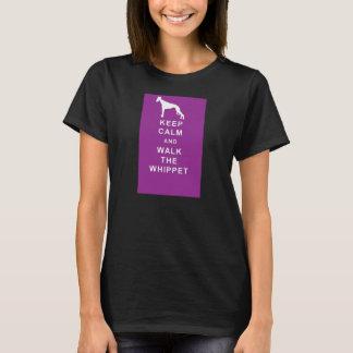 WHIPPET Keep Calm walk whippet t shirt birthday