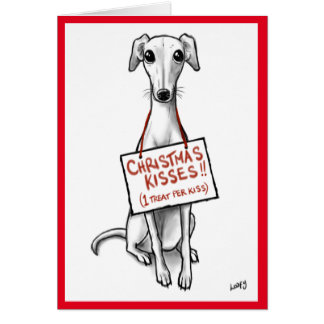 Whippet Kisses Card