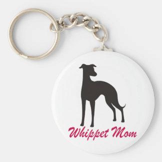 Whippet Mom Key Ring