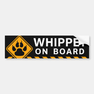 Whippet On Board Bumper Sticker