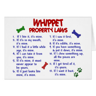 WHIPPET Property Laws 2 Card