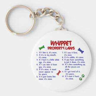 WHIPPET Property Laws 2 Keychains