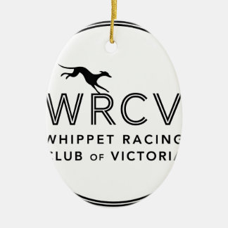 Whippet Racing Club of Victoria Ceramic Oval Decoration