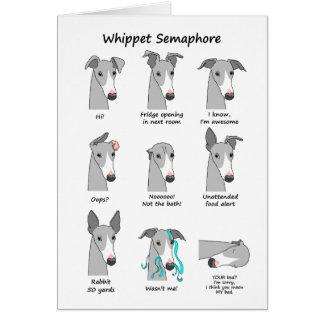 Whippet Semaphore Card