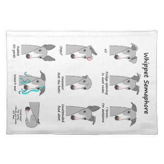 Whippet Semaphore Placemat