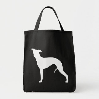 Whippet Silhouette Canvas Bag