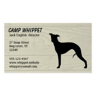 Whippet Silhouette Pack Of Standard Business Cards