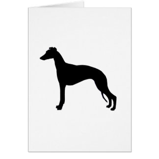 whippet silhouette greeting card