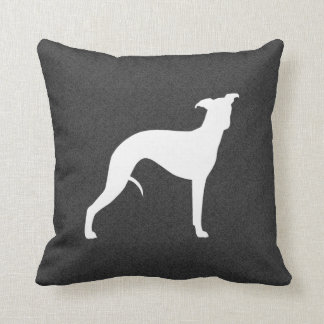 Whippet Silhouette Throw Pillow
