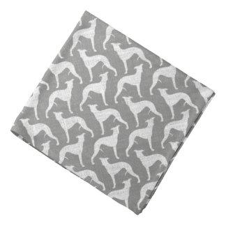 Whippet Silhouettes Pattern Bandana