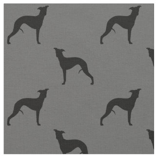 Whippet Silhouettes Pattern Fabric