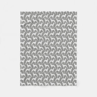 Whippet Silhouettes Pattern Fleece Blanket