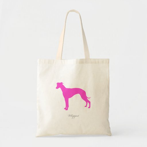Whippet Tote Bag (pink silhouette)