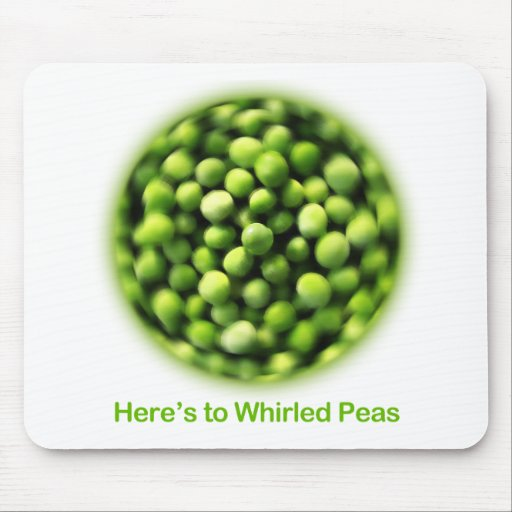 Whirled Peas - Comic T shirt Mouse Pads