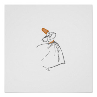 Whirling Dervish - burnt orange Poster