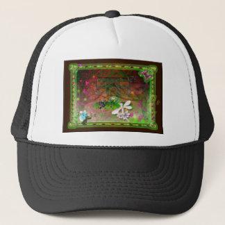 whirling leaves trucker hat