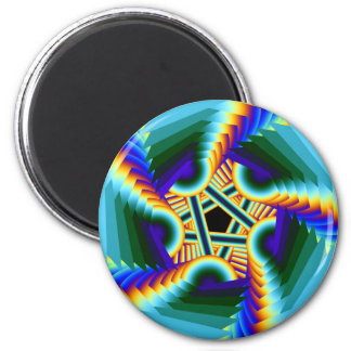 whirling rainbow pentacle refrigerator magnet