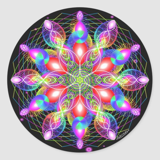 Whirling Rainbow Woman Sticker