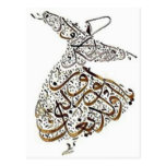 whirling sufi lines postcard