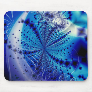 Whirlpool Blue Abstract Design Mouse Pad