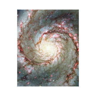 Whirlpool Galaxy Stretched Canvas Print