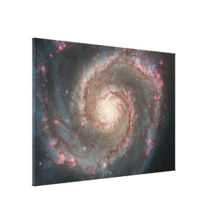 Whirlpool Galaxy (M51) and Companion Galaxy Gallery Wrapped Canvas