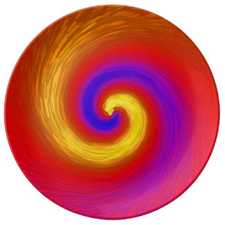 Whirlpool of paint and colour. plate