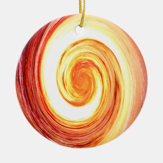 Whirlpool Universe Round Ceramic Decoration