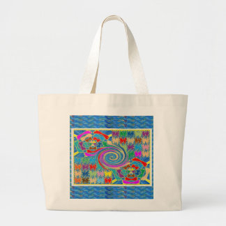 Whirlwind Waves Tornado Decorative Graphics NOVINO Canvas Bags