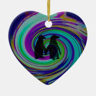 Whirpool Color Adventure. Ceramic Heart Decoration