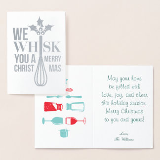 Whisk You a Merry Christmas Foil Card