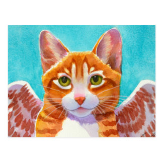 Whiskers, Angel Cat Postcard