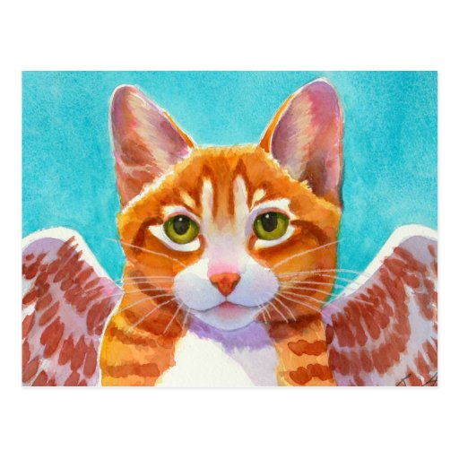 Whiskers, Angel Cat Post Card