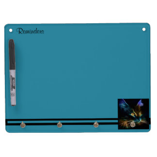 Whiskers Dry Erase Board With Key Ring Holder