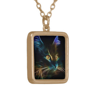 Whiskers Gold Plated Necklace