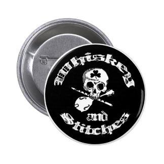 Whiskey and Stitches logo button