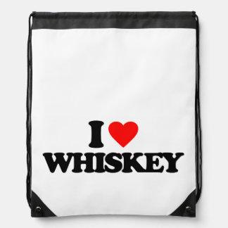 Whiskey Drawstring Bags