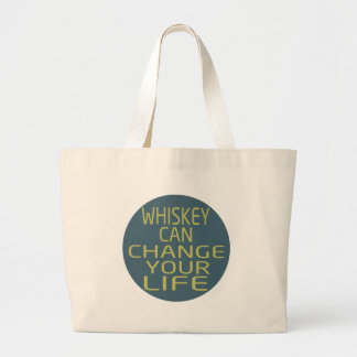 Whiskey Can Change Your Life Canvas Bags