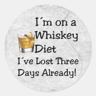 Whiskey Diet Classic Round Sticker