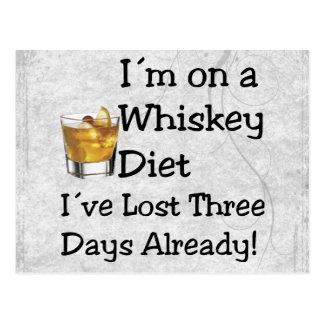 Whiskey Diet Postcard