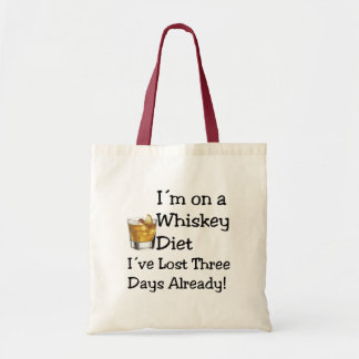 Whiskey Diet Budget Tote Bag