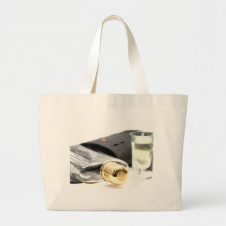 Whiskey Flask and Shot Glasses Jumbo Tote Bag