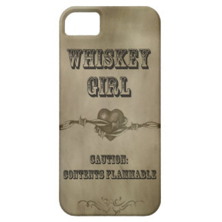 Whiskey Girl - Caution! Cell Phone Case