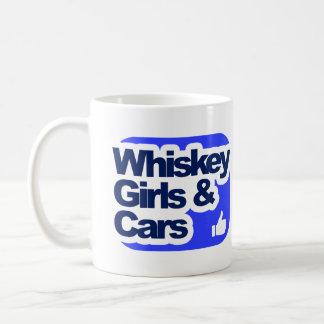 Whiskey, Girls and Cars Coffee Mug