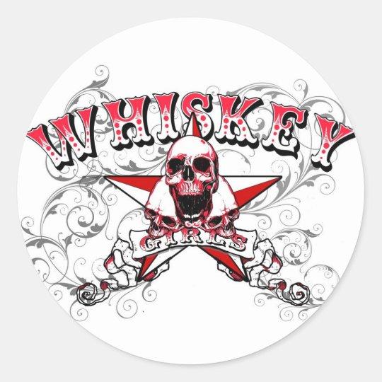 Whiskey Girls Skulls Sticker