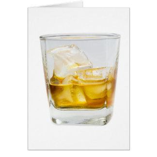 Whiskey on the rocks greeting card