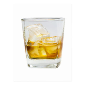 Whiskey on the rocks postcard
