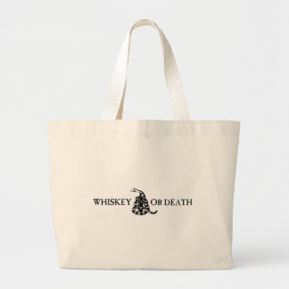 Whiskey or Death Canvas Bags
